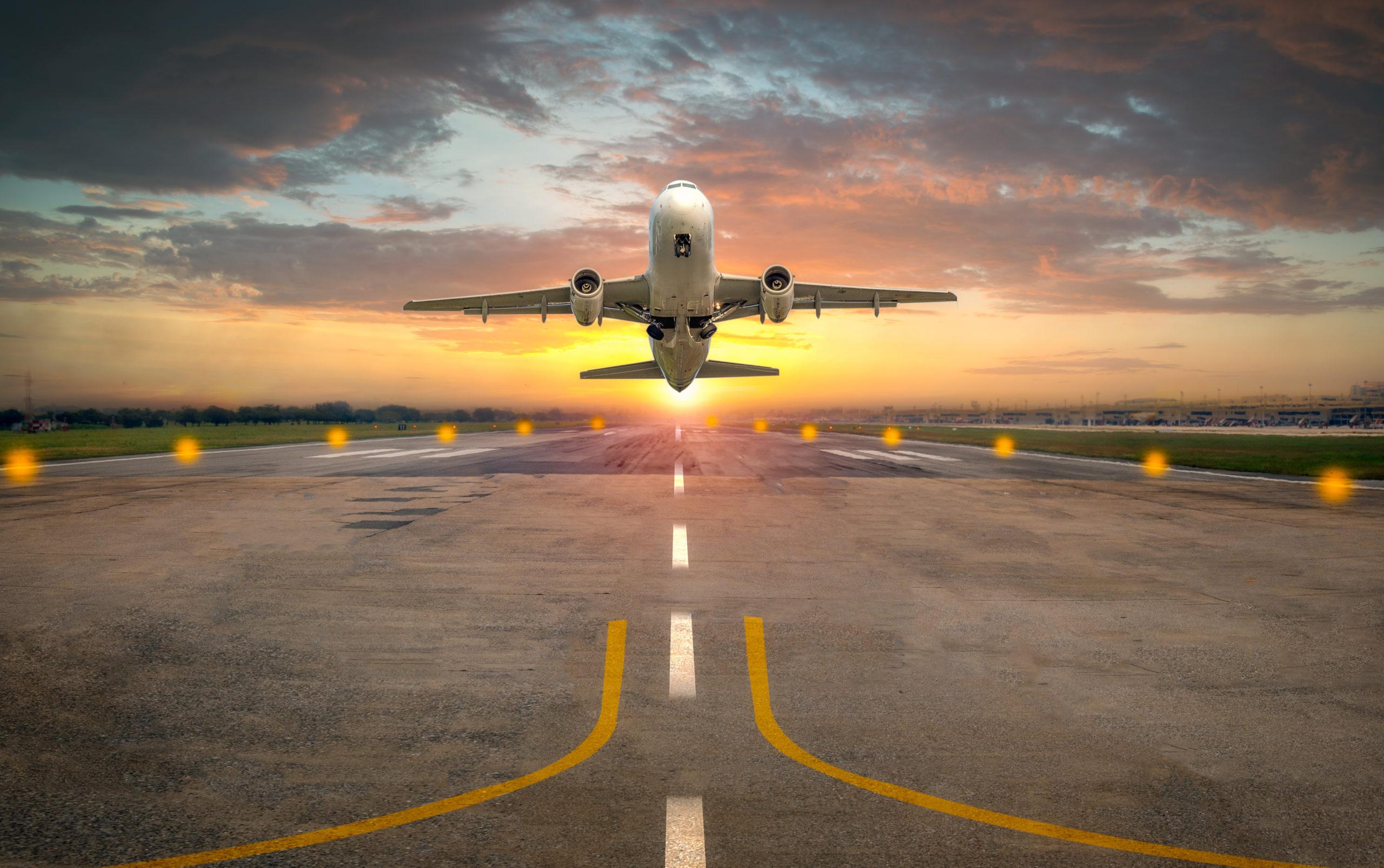 repülőgép, felszállás kifutó