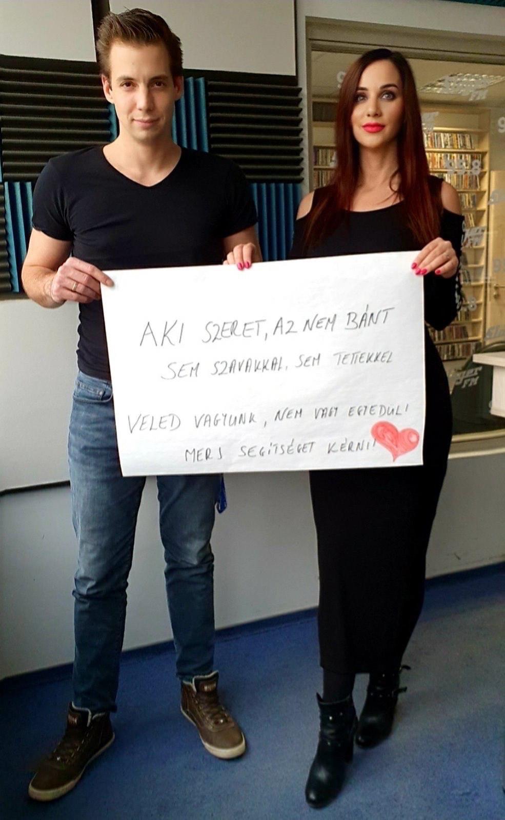 Pordán Petra, Viktorin Tamás rádiósok bántalmazott nők védelmére állnak