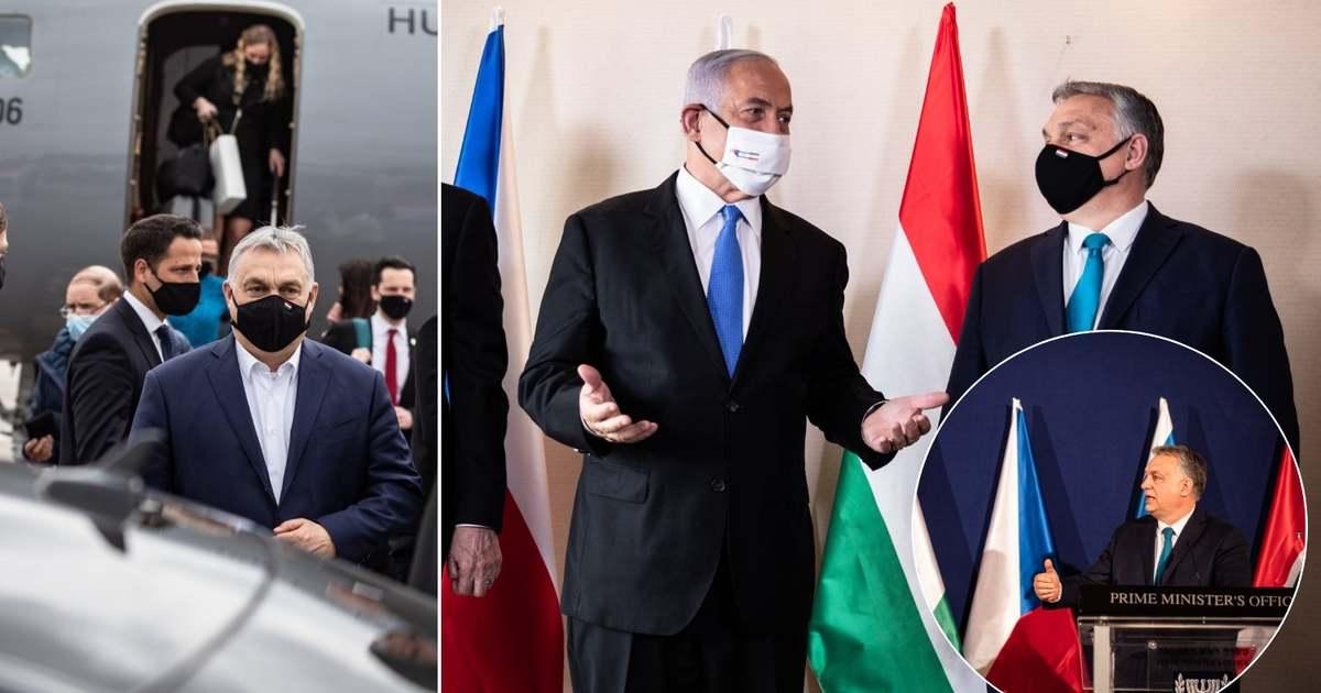 A magyar-cseh-izraeli kormányfői csúcsra utazott Orbán Viktor