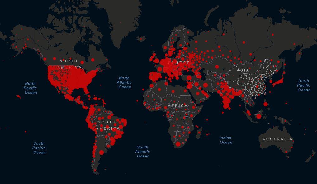 covid-19 világtérkép