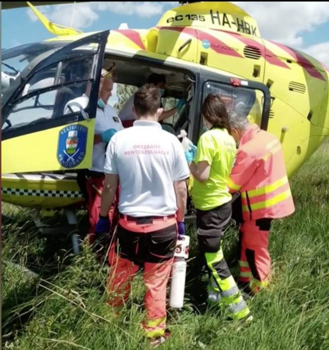 Mentôhelikopterrel vitték egy pesti kórházba a sérült kisfiút