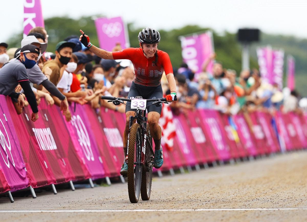 Vas Kata Blankának sok önbizalmat adott, hogy jól sikerült a rajtja a női hegyikerékpárosok keddi versenyében a tokiói olimpián, ahol a negyedik helyen zárt
